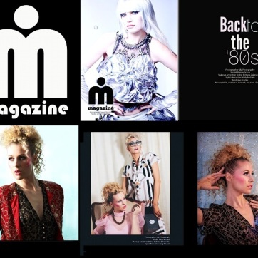 "J&I Photography, Elzbieta Zakoscielna MUA, Kelly Michele Styling. For Imirage Magazine, ""Back to the 80s"""